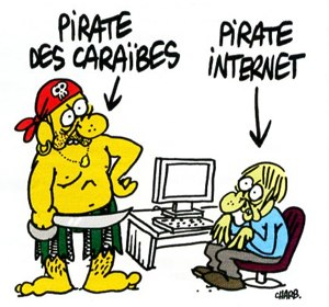 Pirate des Caraïbes contre pirate internet
